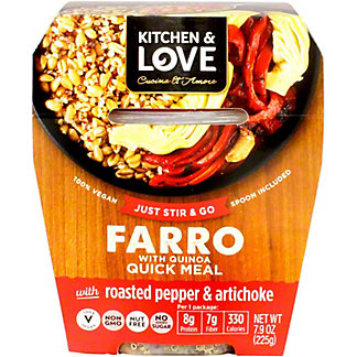 Kitchen and Love Farro Roasted Pepper Artichoke, 7.9 OZ