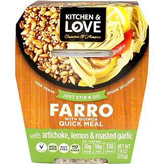 Kitchen and Love Farro Artichoke Lemon Roasted Garlic, 7.9 OZ