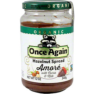 Once Again Amore Hazelnut Spread, 12 OZ