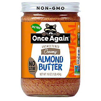 Once Again Almond Butter Classic Natural Smooth No-stir, 16 oz