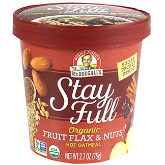 Dr McDougalls Oatmeal Fruit Flax And Nuts, 2.70 oz