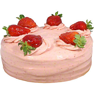 Central Market Strawberry Cake, 9 in