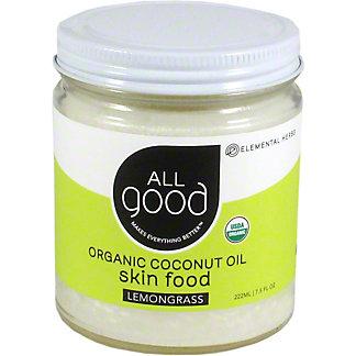 All Good Lemongrass Coconut Oil, 7.5 oz