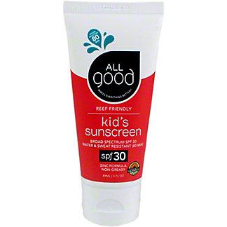 All Good Kids Sunscreen 30 SPF, 3 oz