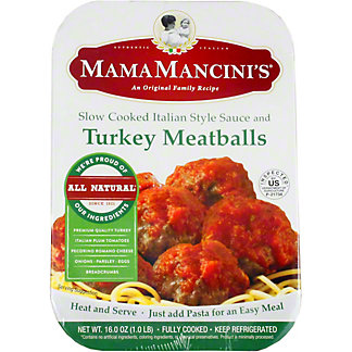 Mama Mancinis Turkey Meatballs, 16 oz