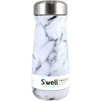 Swell White Marble Traveler, 16 oz