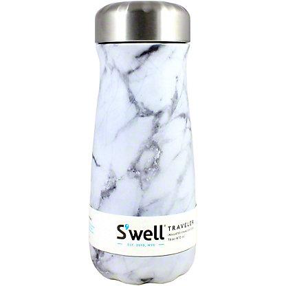 Swell White Marble Traveler, 16 oz