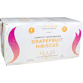 Limitless Sparkling Water Grapefruit Hibiscus, 8/12 OZ Cans