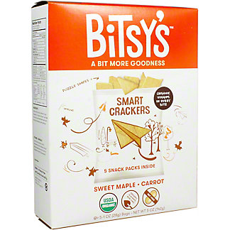 Bitsys Brainfood Maple Carrot Crisp, 5 oz