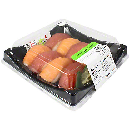 Yummi Sushi Jumbo Nigiri Combo Tuna & Salmon, 8 ct