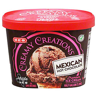 H-E-B Select Ingredients Creamy Creations Mexican Hot Chocolate Ice Cream, 1/2 gal