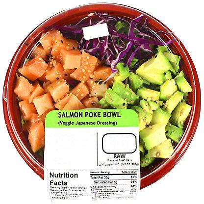 Yummi Sushi Salmon Poke Bowl Veggie & Japanese Dressing, 13 oz