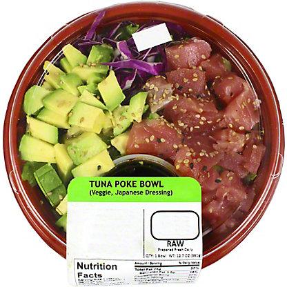 Yummi Sushi Tuna Poke Bowl Veggie & Japanese Dressing, 13 oz