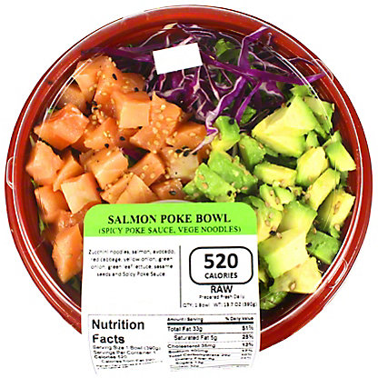 Yummi Sushi Salmon Poke Bowl Veggie Spicy Veggie Spicy Poke Sauce, 13 OZ