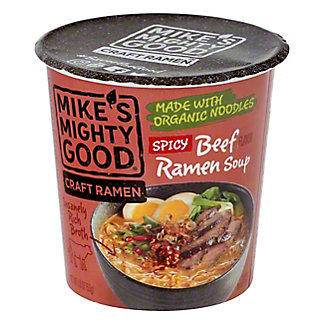 Mikes Mighty Good Beef Spicy Ramen Soup, 1.8 oz