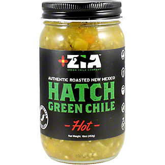 Zia Hatch Roasted Green Chiles Hot, 16 oz