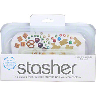 Stasher Snack Bag Clear, 9.9 OZ