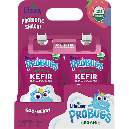 Lifeway Probugs 4PK Goo Berry, 14 OZ