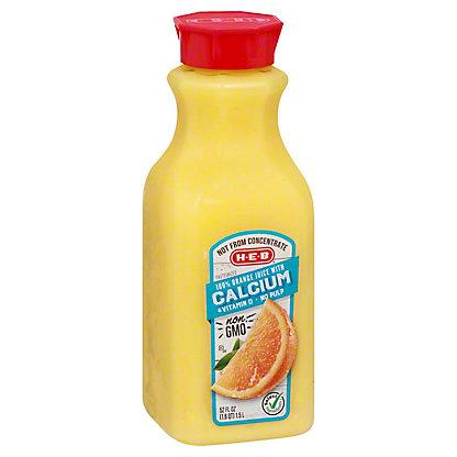 H-E-B Select Ingredients No Pulp Orange Juice with Calcium, 52 oz