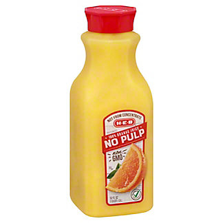 H-E-B Select Ingredients No Pulp Orange Juice, 52 oz