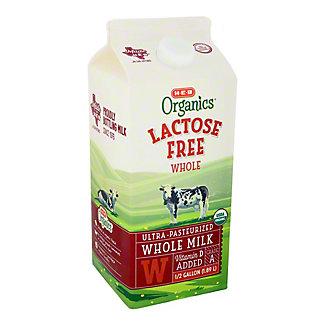 H-E-B Organics Lactose Free Whole Milk, 1/2 gal