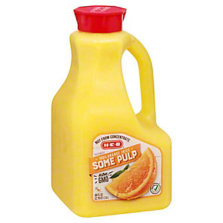 H-E-B Select Ingredients Some Pulp Orange Juice, 89 oz
