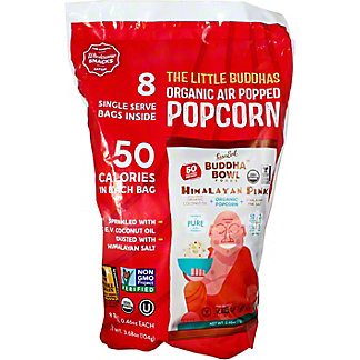 Lesser Evil Organic Popcorn Buddah Bowl Himalayan Pink .46 oz, 8 ct