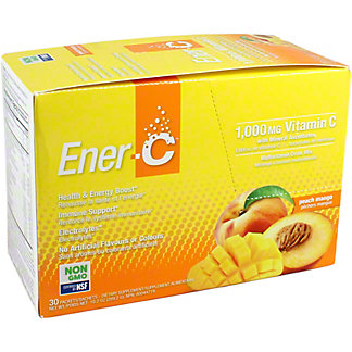 Ener-C Non GMO Peach Mango Multivitamin Drink, 30 CT