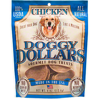 Doggy Dollars Chicken Dog Treats, 4 oz
