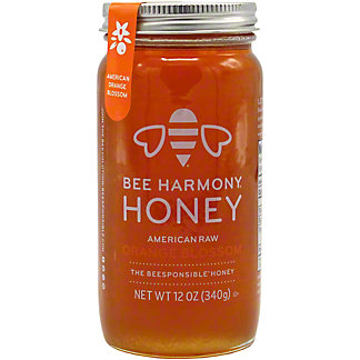 Bee Harmony Honey Organic American Orange Blossom, 12 OZ