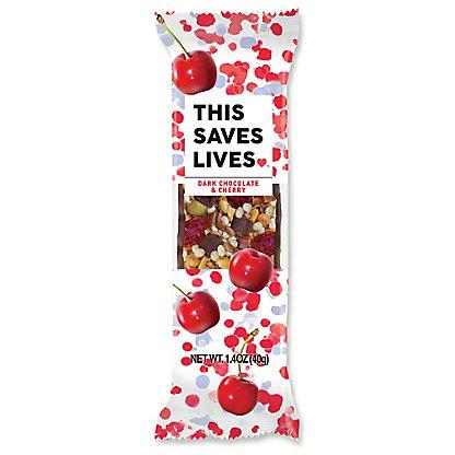 This Bar Saves Lives Dark Chocolate Cherry Sea Salt, 1.4 OZ