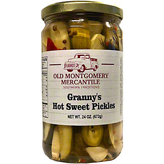 Old Montgomery Mercantile Grannys Hot Sweet Pickles, 24 oz
