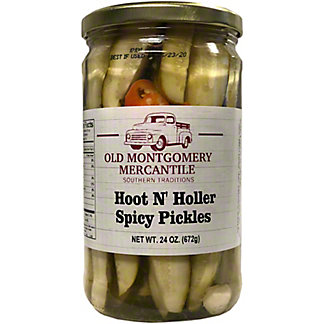 Old Montgomery Mercantile Hoot N Holler Spicy Pickles, 24 oz