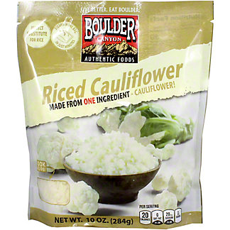 Boulder Canyon Cauliflower Rice Unseasoned, 10 oz
