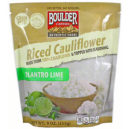 Boulder Canyon Cauliflower Rice Cilantro Lime, 9 oz