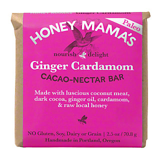 Honey Mamas Honey Cocoa Bar Ginger Cardamom, 2.5 oz