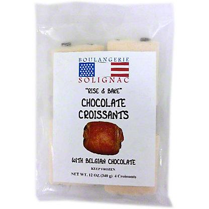Boulangerie Solignac Chocolate Rise & Bake Croissants, 12 oz