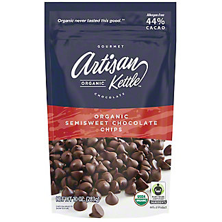 Artisan Kettle Gourmet Organic Chocolate Semisweet Chocolate Chips, 10 oz