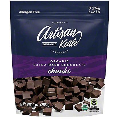 Artisan Organic Extra Dark Chocolate Chunks, 9 oz