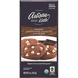 Artisan Organic Unsweetened Chocolate Baking Bar, 4 oz