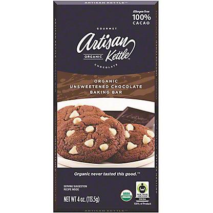 Artisan Organic Unsweetened Chocolate Baking Bar, 4 oz