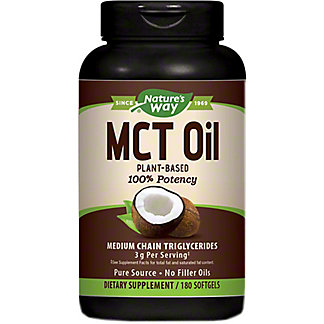 Nature's Way Coconut MCT Oil Soft Gels   , 180 ct