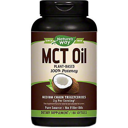 Nature's Way Coconut MCTOil Soft Gels , 180 ct