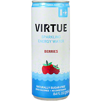 Virture Sparkling Energy Water Berries, 250 mL