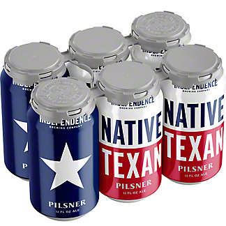 Independence Native Texas Pilsner Beer 12 oz Cans, 6 pk
