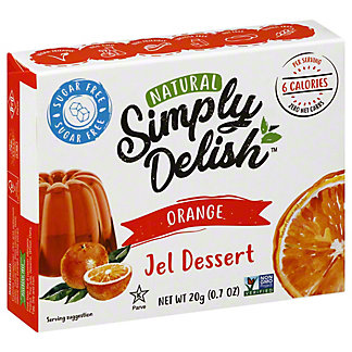 Simply Delish Natural Orange Jel Dessert, 0.7 oz