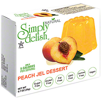 Simply Delish Natural Peach Jel Dessert, 0.7 oz