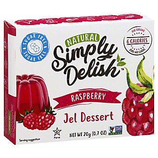 Simply Delish Natural Raspberry Jel Dessert, 0.7 oz
