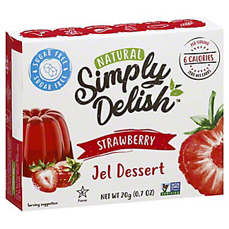 Simply Delish Natural Strawberry Jel Dessert, 0.7 oz