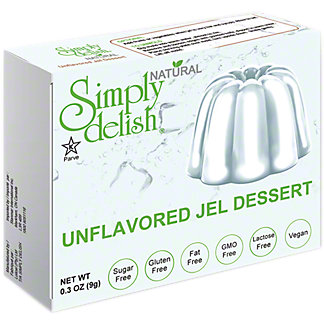 Simply Delish Natural Unflavored Jel Desert, 0.3 oz